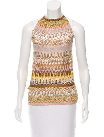 Missoni Patterned Halter Top None