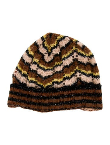 Missoni Girls' Metallic Patterned Beanie w/ Tags None
