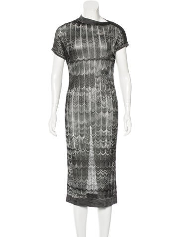 Missoni Metallic Midi Dress w/ Tags None