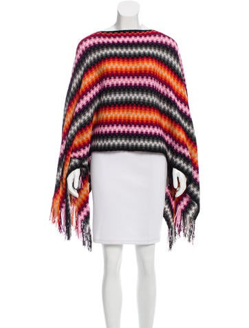 Knitting Pattern Striped Poncho : Missoni Striped Knit Poncho - Clothing - MIS38131 The RealReal