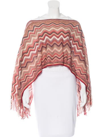 Missoni Wool Metallic Poncho None