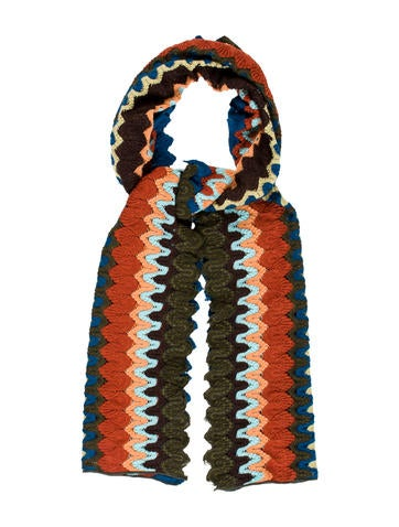 Missoni Knitted Multicolor Scarf None