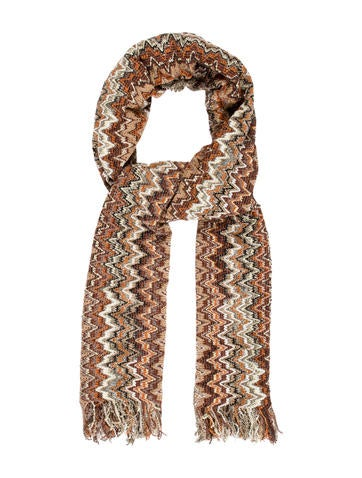Missoni Fringe Multicolor Scarf None