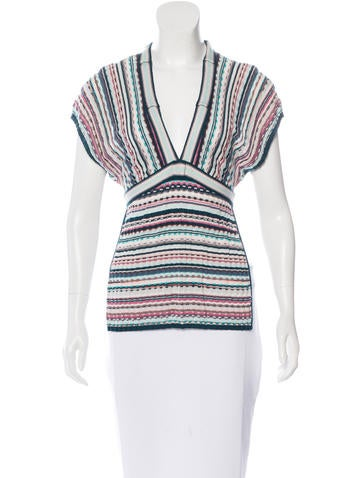 Missoni Striped Sleeveless Top None