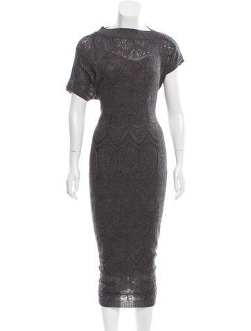 Missoni Metallic-Accented Knit Dress None