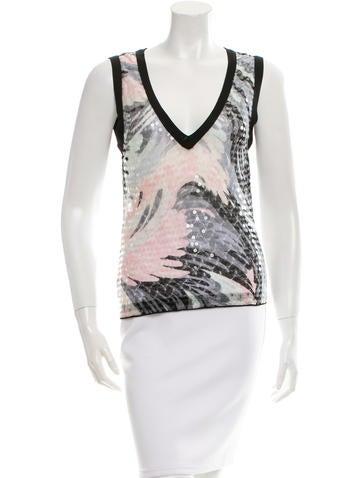 Missoni Sequin-Embellished Knit Top None