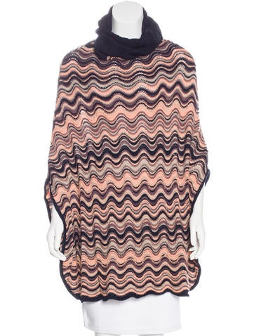 Missoni Wool Turtleneck Poncho None