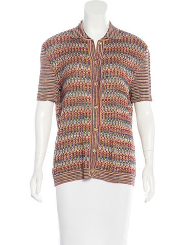 Missoni Knit Button-Up Top None
