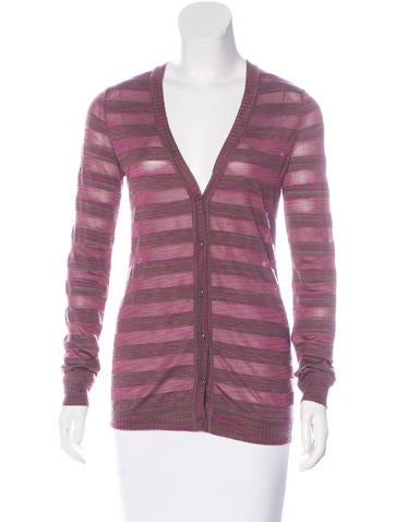 Missoni Cashmere-Blend Striped Cardigan None