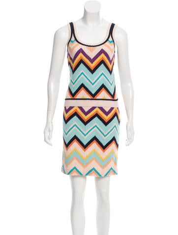 Missoni Chevron Patterned Skirt Set None