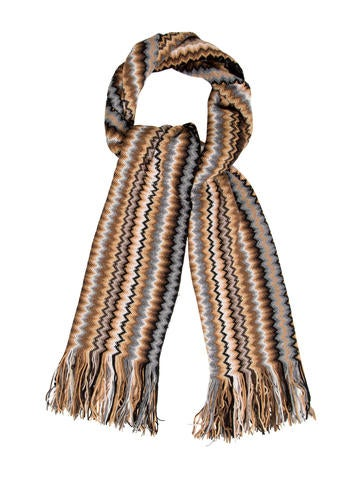 Missoni Chevron Fringe Scarf w/ Tags None