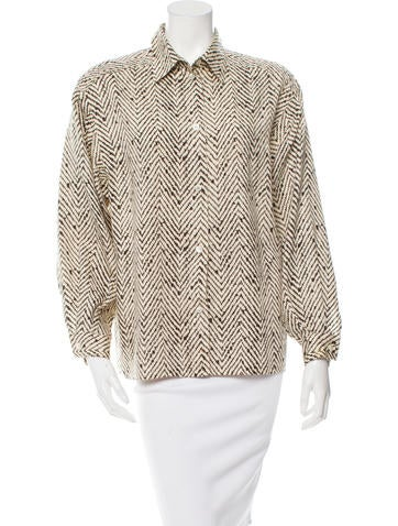Missoni Printed Button-Up Top None