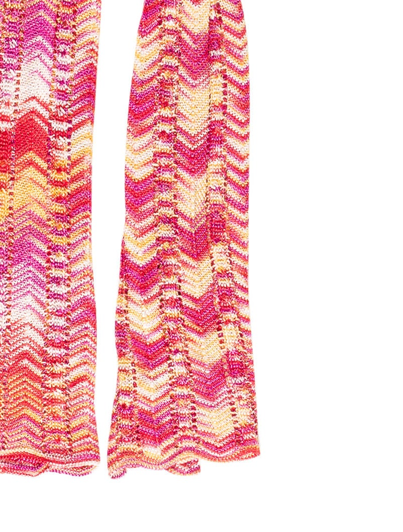 Chevron Scarf Pattern Knit : Missoni Chevron Knit Scarf - Accessories - MIS39575 The RealReal