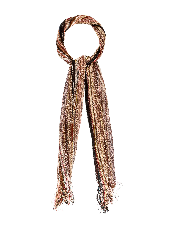 missoni metallic striped scarf accessories mis39680