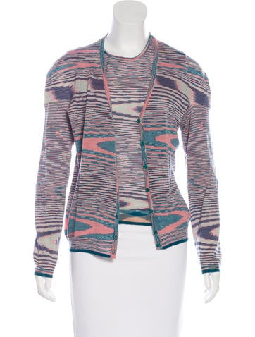 Missoni Patterned Cardigan Set None