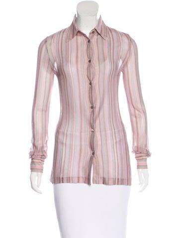 Missoni Striped Button-Up Top None