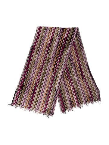 Missoni Knit Fringe Scarf None