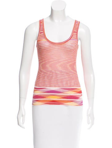Missoni Perforated Sleeveless Top None