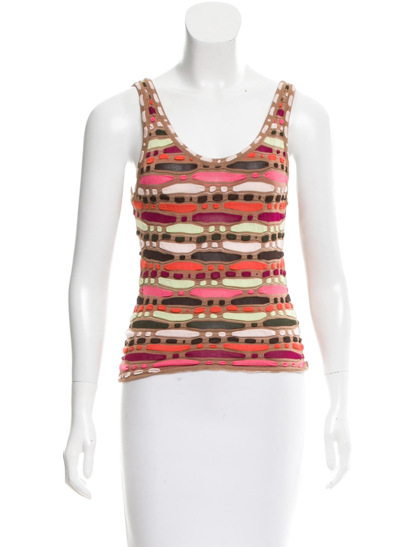 missoni knit sleeveless top clothing mis40281 the realreal. Black Bedroom Furniture Sets. Home Design Ideas