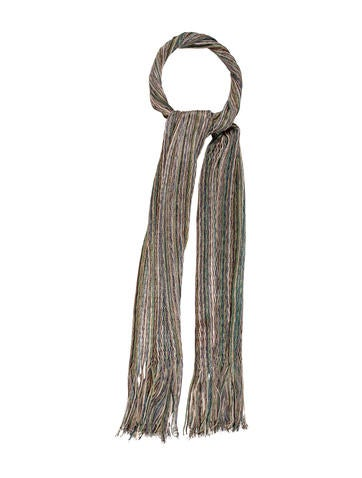 Missoni Knit Fringe Scarf None