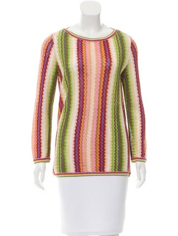 Missoni Striped Rib Knit Sweater None