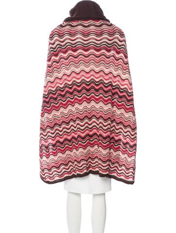 Knitting Pattern For Turtleneck Poncho : Missoni Knit Turtleneck Poncho - Clothing - MIS40759 The ...