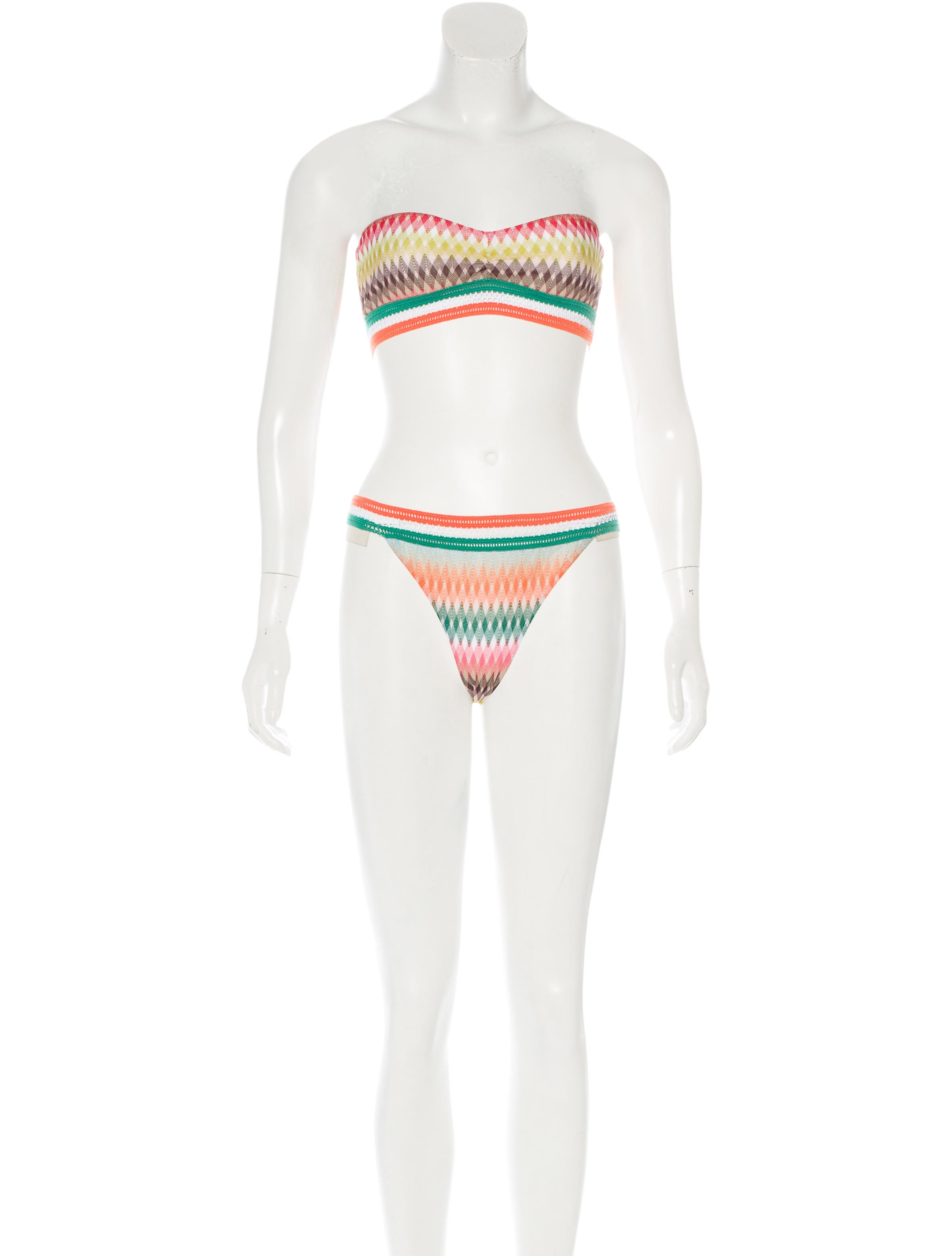 missoni patterned two piece swimsuit w tags clothing mis40780 the realreal. Black Bedroom Furniture Sets. Home Design Ideas