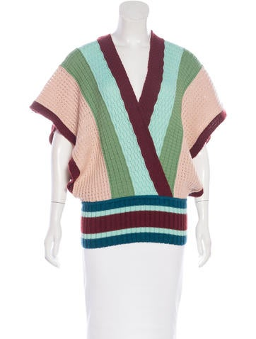 Missoni Wool & Mohair-Blend Top w/ Tags None