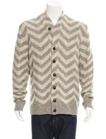 Missoni Linen & Wool-Blend Cardigan w/ Tags None
