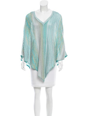 Missoni Metallic Cover-Up Poncho None