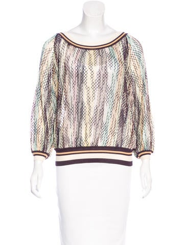 Missoni Open-Knit Long Sleeve Top None
