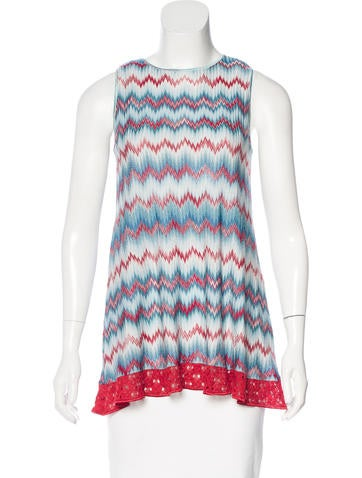 Missoni Lace-Trimmed Pattern Tunic None