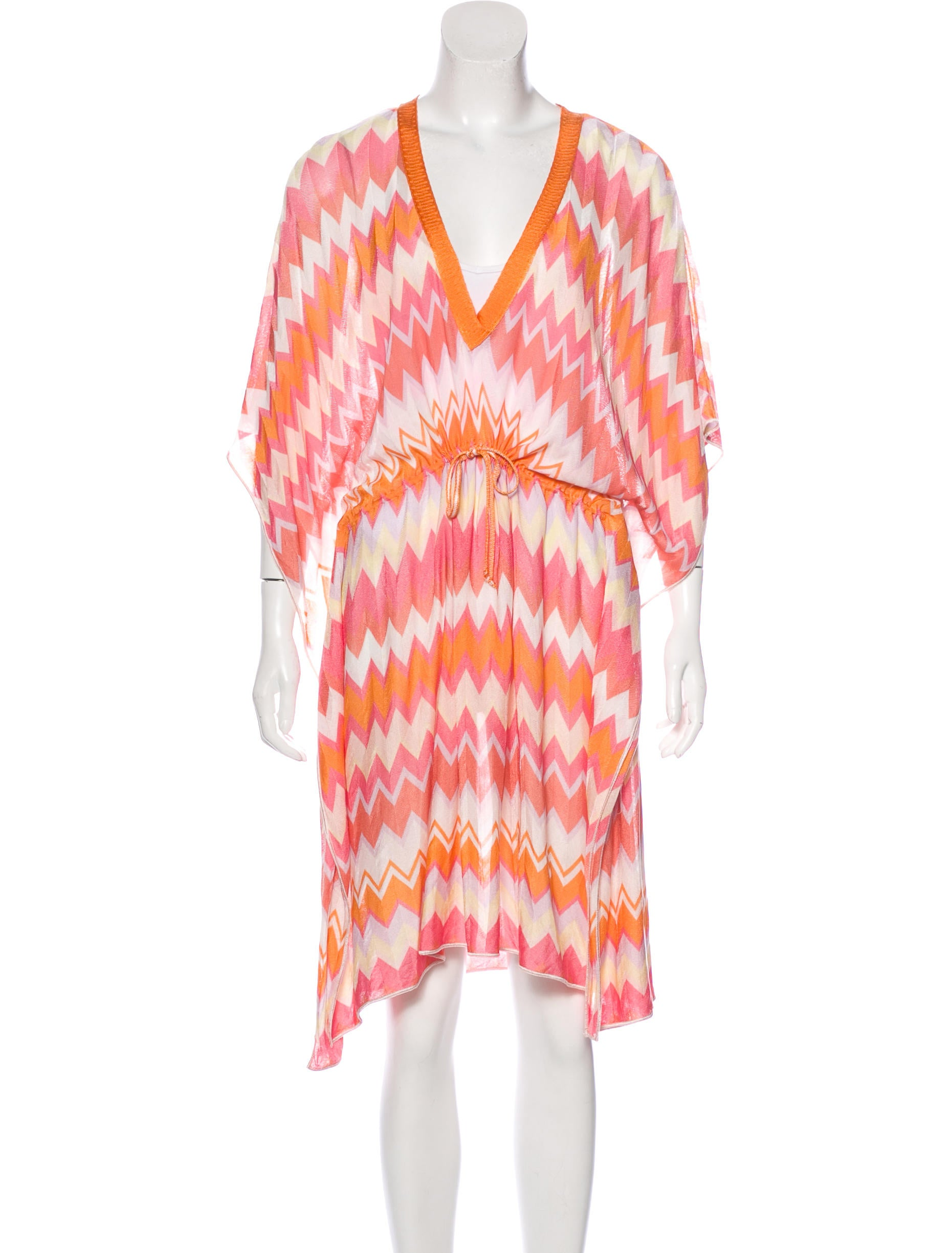 missoni chevron swim cover up swimwear mis41363 the realreal. Black Bedroom Furniture Sets. Home Design Ideas