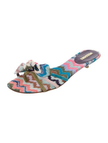 missoni canvas slide sandals shoes mis41581 the realreal