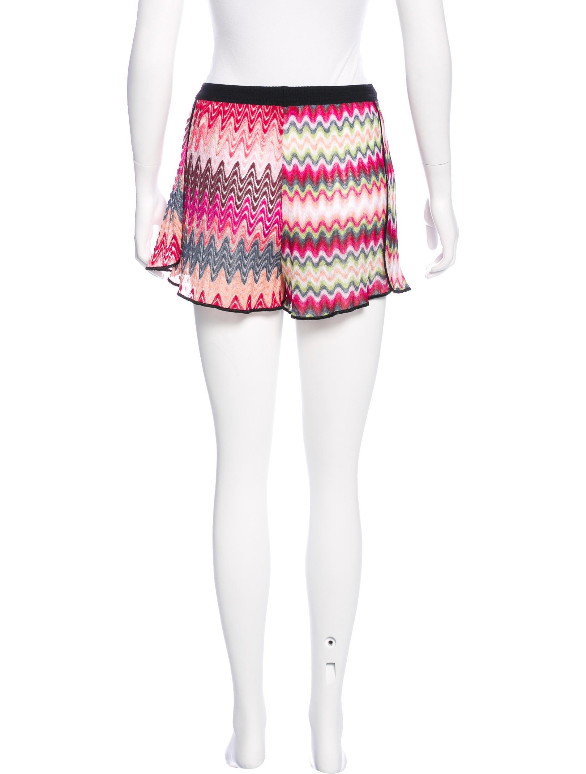 Knit Shorts Pattern : Missoni Stretch Knit Mini Shorts - Clothing - MIS41743 The RealReal
