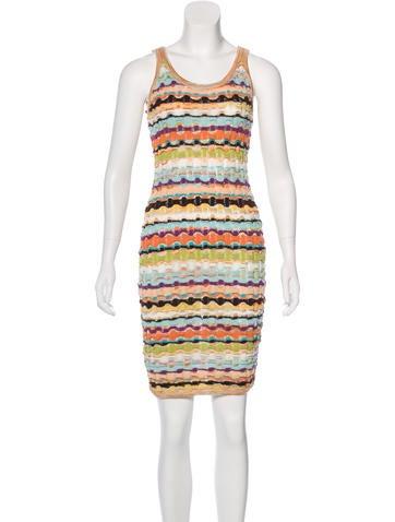 Missoni Knit Bodycon Dress None
