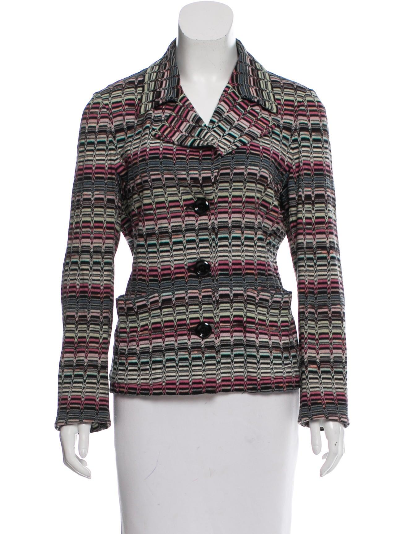 Denim Jacket Knitting Pattern : Missoni Pattern Knit Jacket - Clothing - MIS41815 The RealReal