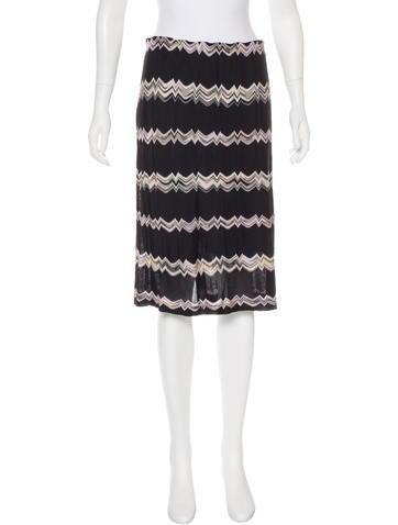 Missoni Chevron Knee-Length Skirt None