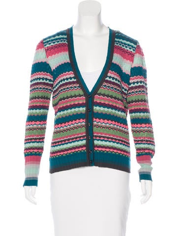Missoni Wool Patterned Cardigan None