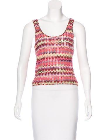 Missoni Open-Knit Sleeveless Top None