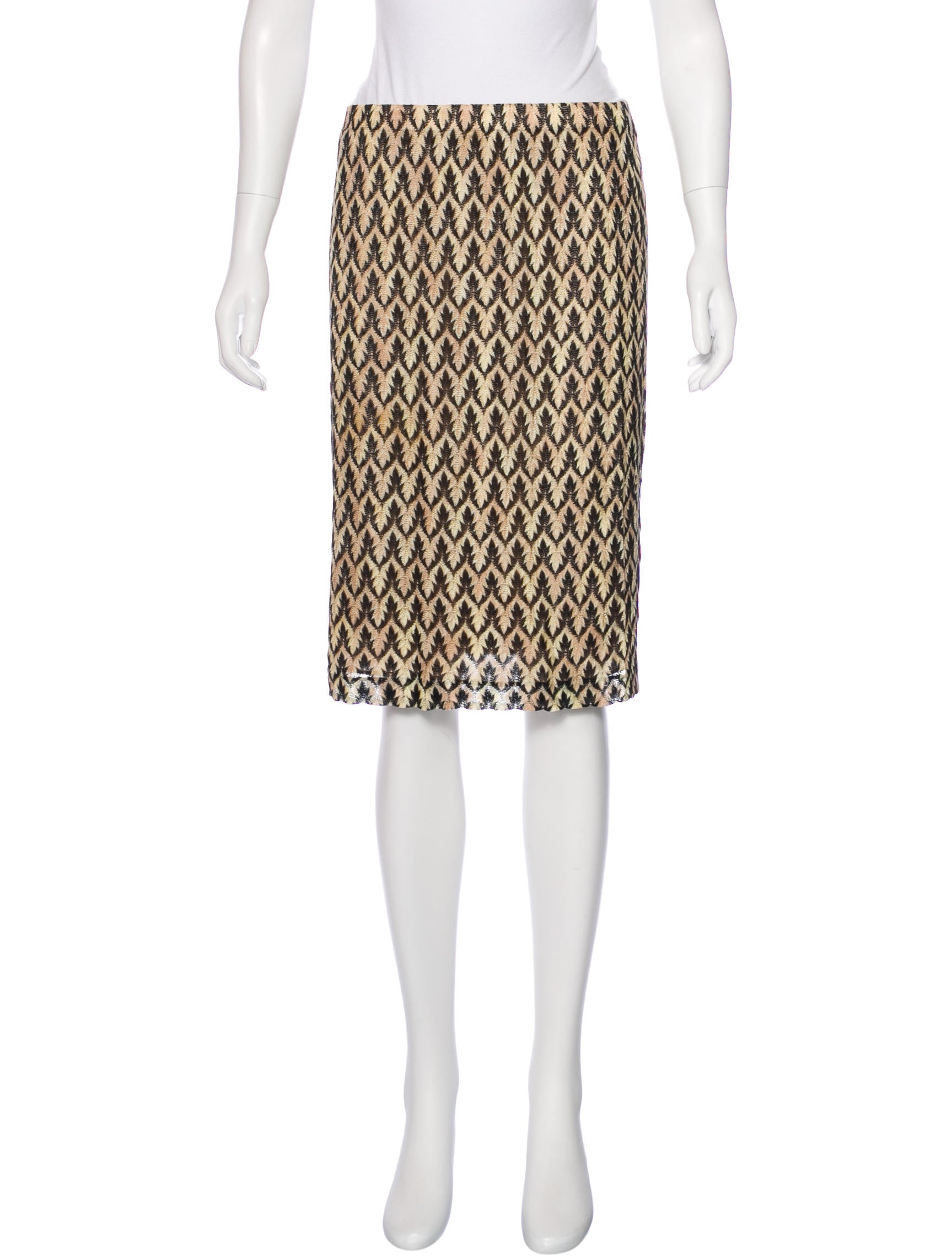 Missoni Knit Pencil Skirt - Clothing - MIS41999 | The RealReal
