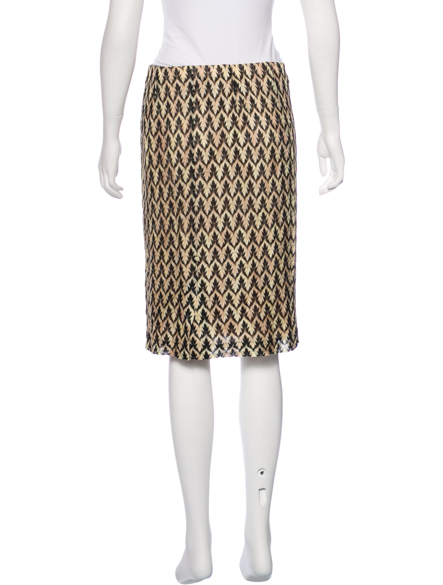 Missoni Knit Pencil Skirt - Clothing - MIS41999 The RealReal