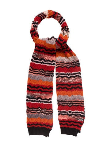Missoni Abstract Patterned Wool Scarf None