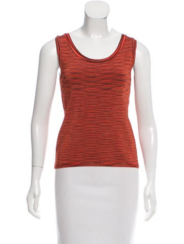 Missoni Rib Knit Sleeveless Tank Top None
