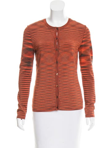 Missoni Rib Knit Cardigan Sweater None
