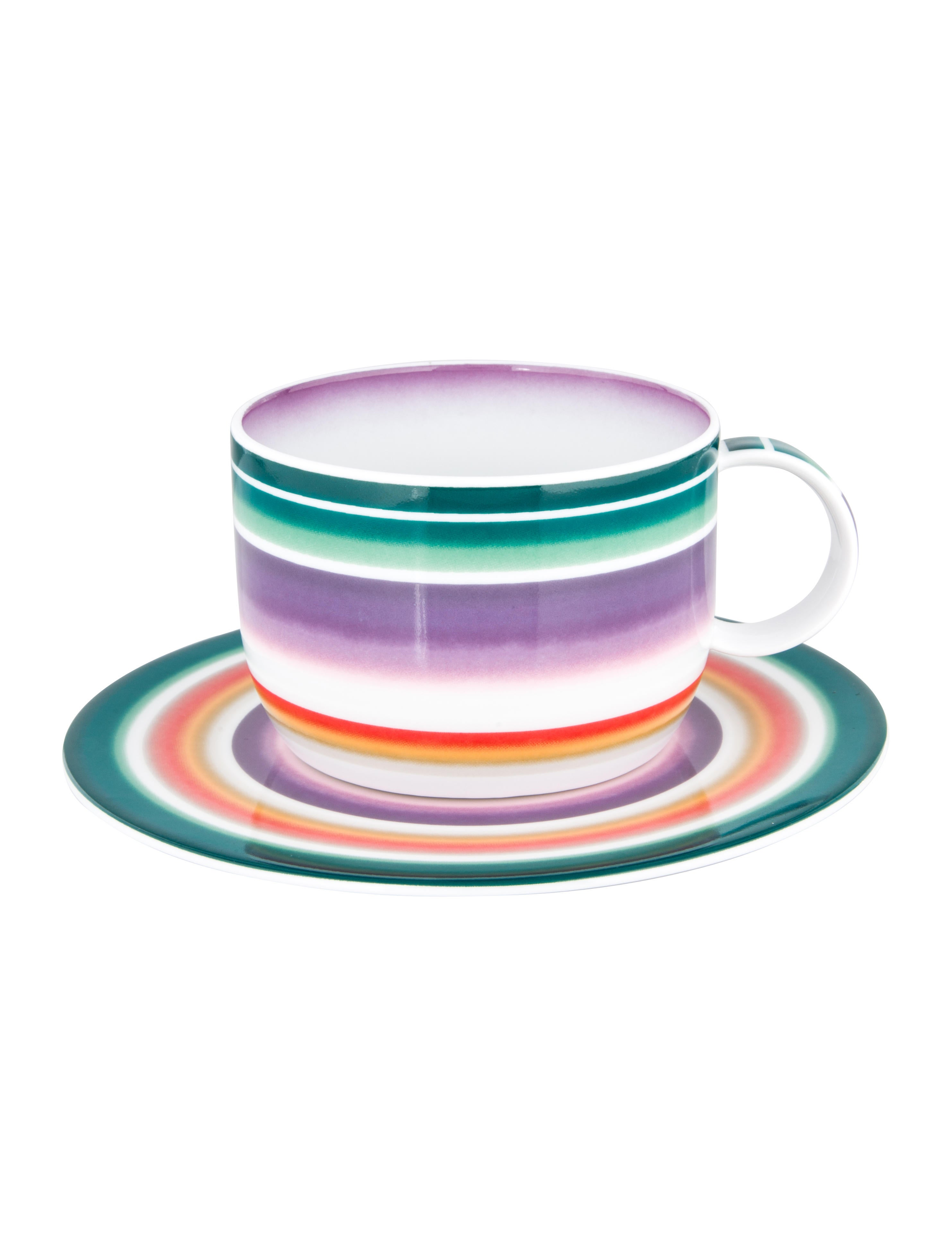 Zig Zag Cup u0026 Saucer w/ Tags  sc 1 st  The RealReal & Missoni Zig Zag Cup u0026 Saucer w/ Tags - Tabletop And Kitchen ...