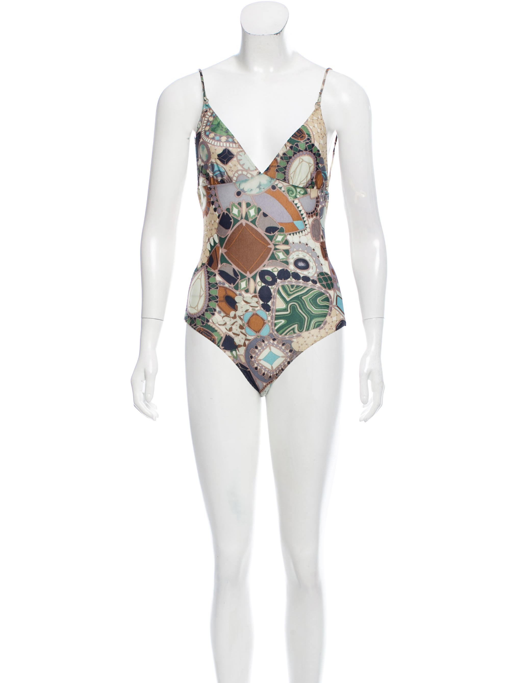 missoni printed one piece swimsuit w tags clothing mis42249 the realreal. Black Bedroom Furniture Sets. Home Design Ideas