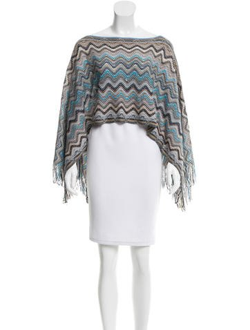 Missoni Wool Chevron Poncho None