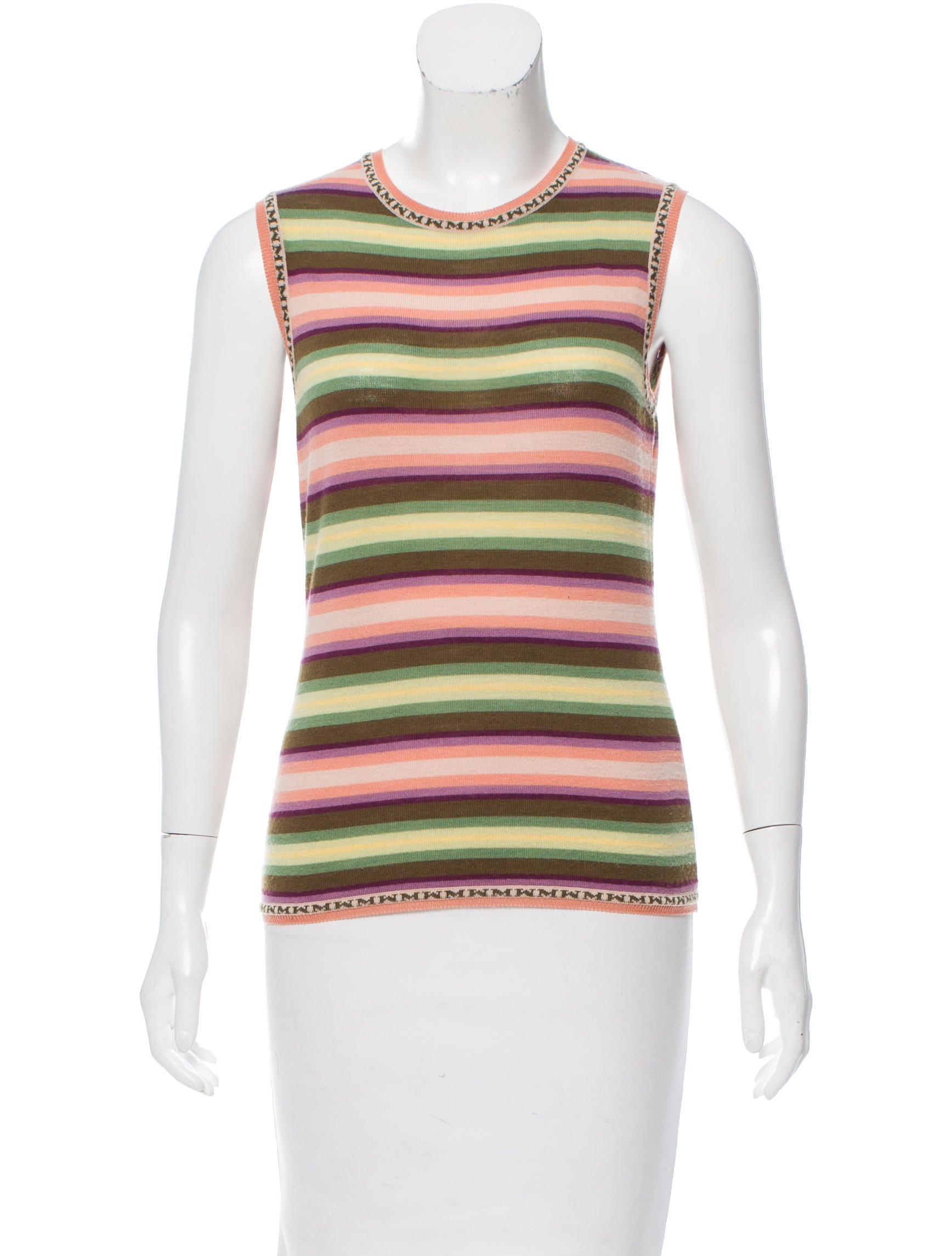 Missoni wool sleeveless top clothing mis42449 the for Best wool shirt jackets