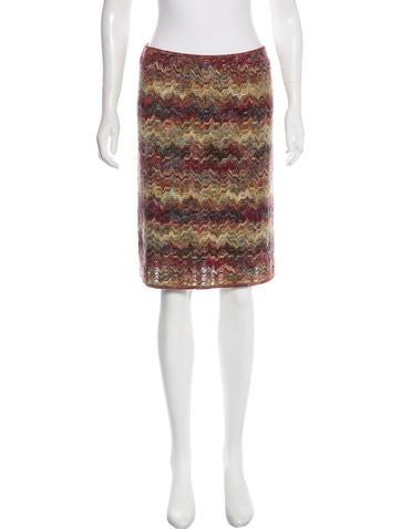 Missoni Knit Knee-Length Skirt None